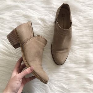 NATURALIZER Zarie Ankle Booties Taupe Nubuck SZ 8